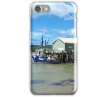 Mangonui Wharf - vessel contrasts.......! iPhone Case/Skin