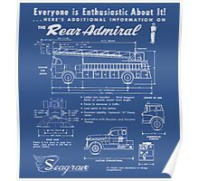 Seagrave Rear Admiral blueprint Poster