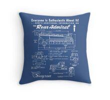 Seagrave Rear Admiral blueprint Throw Pillow