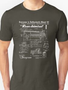 Seagrave Rear Admiral blueprint T-Shirt