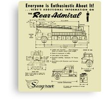 Seagrave Rear Admiral ad Canvas Print