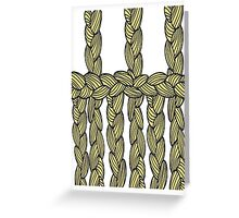 pigtail ornament Greeting Card
