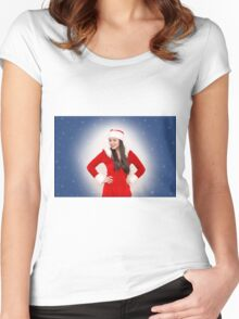 Christmas girl Women's Fitted Scoop T-Shirt