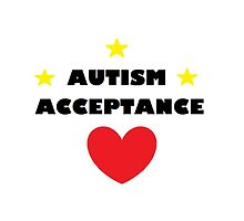 Autism Acceptance heart and stars by Mandy Klein