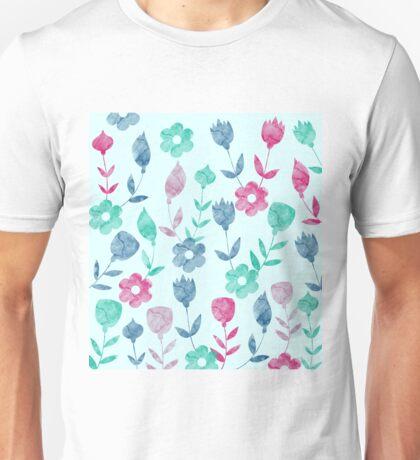 Watercolor Flowers Pattern  Unisex T-Shirt