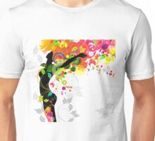 Floral Girl 08 Unisex T-Shirt