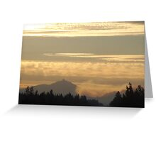 Black Butte Fire Scene 2007  Greeting Card