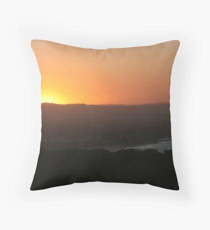 byron sunset 2 Throw Pillow