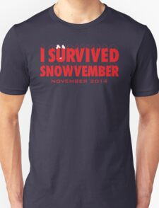 Funny 'I Survived Snowvember 2014' Winter Storm T-Shirt T-Shirt