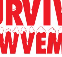 Funny 'I Survived Snowvember 2014' Winter Storm T-Shirt Sticker