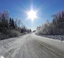 Wintery Road To Heaven by Martha Medford