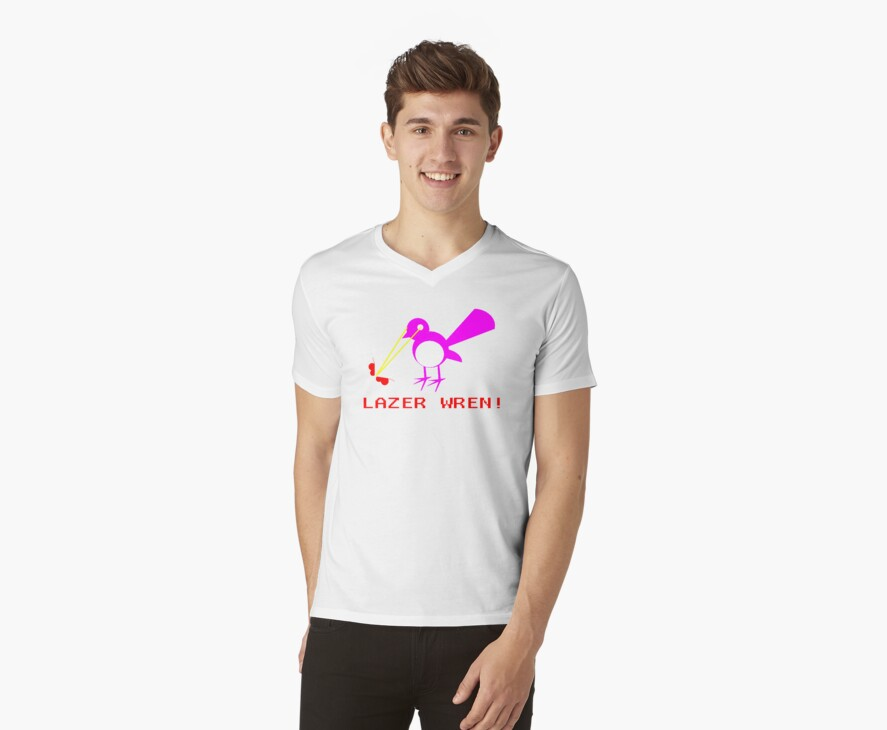 Attack of the Lazer Wren by rufflesal