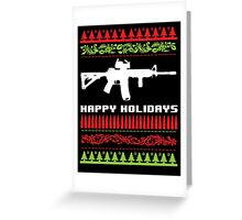 Funny AR-15 Ugly Christmas Sweater T-Shirt and Gifts Greeting Card