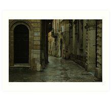 Streetscape in Baroque ! Art Print