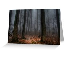 Misty Path to Flat Top Mountain Greeting Card