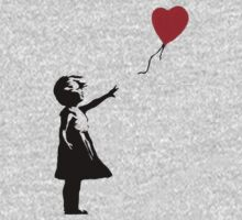 Banksy Red Balloon Kids Clothes