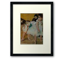 After Degas/ before the exam Framed Print