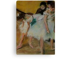 After Degas/ before the exam Canvas Print