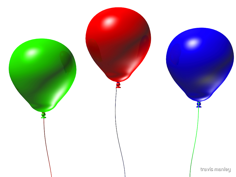 3d Balloons by travis manley