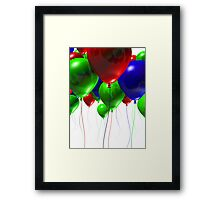 Colorful 3d Balloons Framed Print