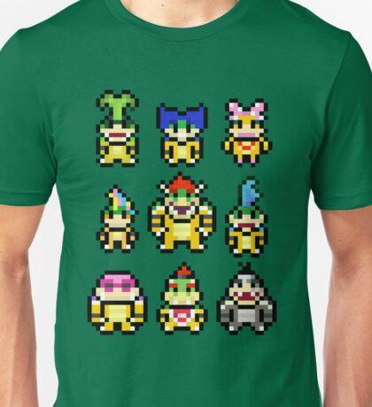 Pixel Mario Koopa Squad Unisex T-Shirt