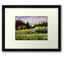 On the road to Wiesme  Framed Print