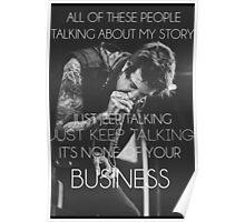 Just keep talking Poster
