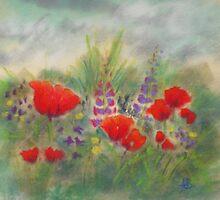 Poppies II by Redbarron