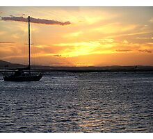 Evening sky at the town of 1770 Photographic Print