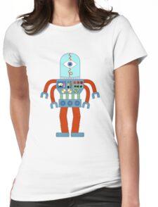 Eyeball Robot Womens Fitted T-Shirt