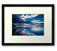 extreme sunset reflections  Framed Print