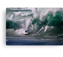 Jamie O'Brien At 2009 Quiksilver in Memory of Eddie Aikau Contest Canvas Print