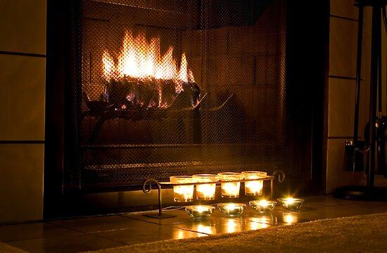 Warm Fireplace By Kk5hy Redbubble