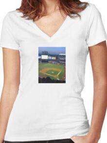 Yankee Stadium Women's Fitted V-Neck T-Shirt