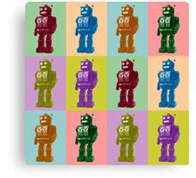 Pop Art Robots Canvas Print
