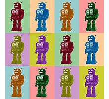 Pop Art Robots Photographic Print