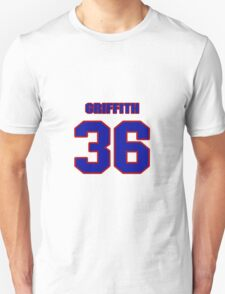 National football player Justin Griffith jersey 36 T-Shirt
