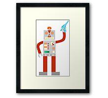 Raygun Robot Invasion Framed Print