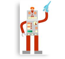 Raygun Robot Invasion Canvas Print