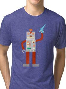 Raygun Robot Invasion Tri-blend T-Shirt
