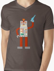 Raygun Robot Invasion Mens V-Neck T-Shirt