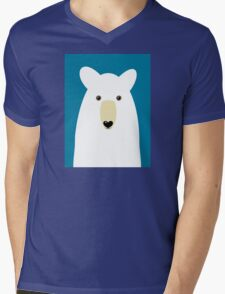 POLAR BEAR PORTRAIT Mens V-Neck T-Shirt