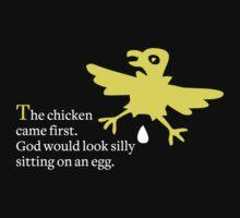 The chicken came first by Kurt  Tutschek