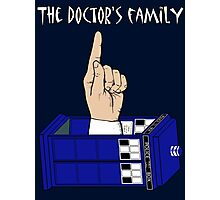The Doctor's Family Photographic Print