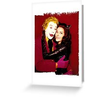Joker and Catwoman Greeting Card