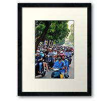 Countless Motorbikes - Ho Chi Minh City, Vietnam. Framed Print