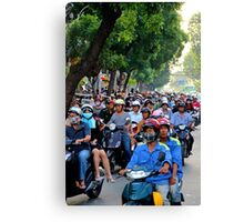 Countless Motorbikes - Ho Chi Minh City, Vietnam. Canvas Print