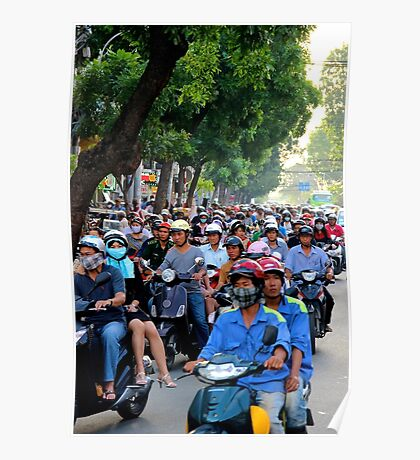 Countless Motorbikes - Ho Chi Minh City, Vietnam. Poster