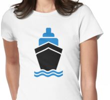 Container ship Womens Fitted T-Shirt
