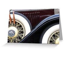 Old Cadillac Greeting Card